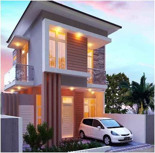 arsitektur rumah minimalis 2 lantai sederhana terbaru