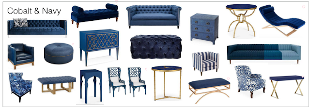 Sale navy blue and cobalt blue home decor picks including furniture, tufted ottmans, chairs, sofas, lighting, and accessories from One Kings Lane