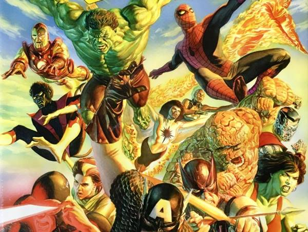 Los cómics de superhéroes de Marvel