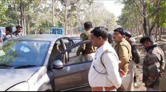 सिग्रामपुर के जंगल मे सांभर का शिकार.. रेंजर की गाड़ी को टक्कर मारने के बाद महाराष्ट्र पासिंग की कार को छोड़कर.. जंगल में भागे 3 शिकारियों का नहीं लगा कोई सुराग.. इधर सांभर के मास के साथ एक गिरफ्तार..