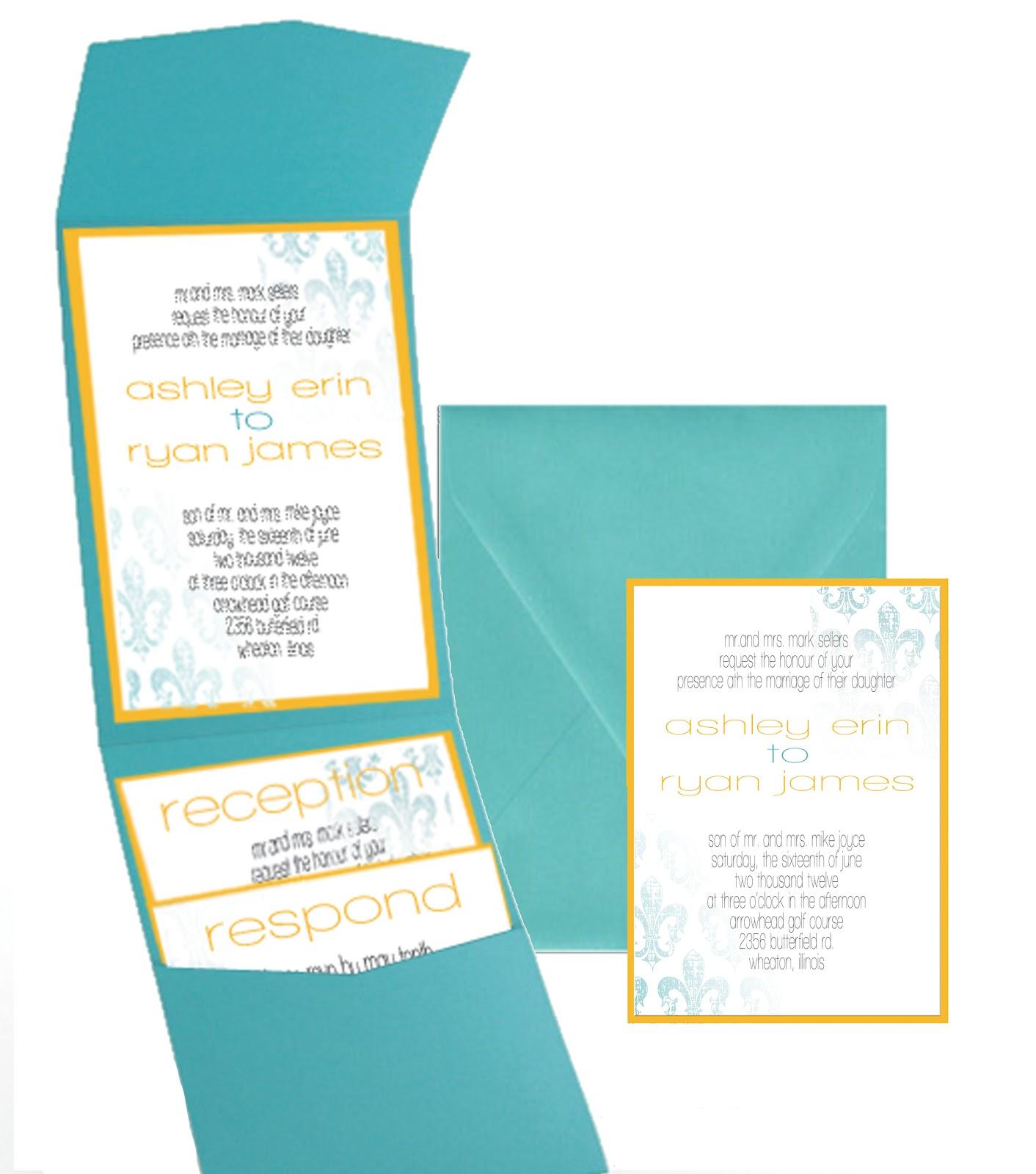 Wedding Invitations Teal And Orange - Unique Wedding Ideas