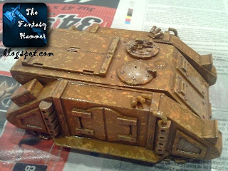 Chaos Space Marines Rhino weathering