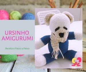 amigurumi urso pardo com cachecol. | Urso pardo, Urso de crochê, Urso | 251x300