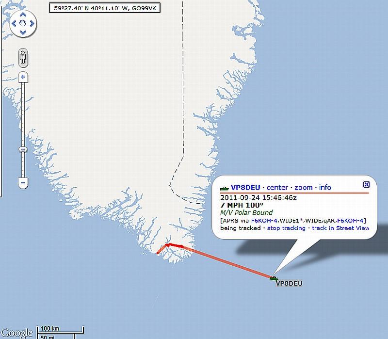 POLAR BOUND prepares to depart Greenland to England - weather