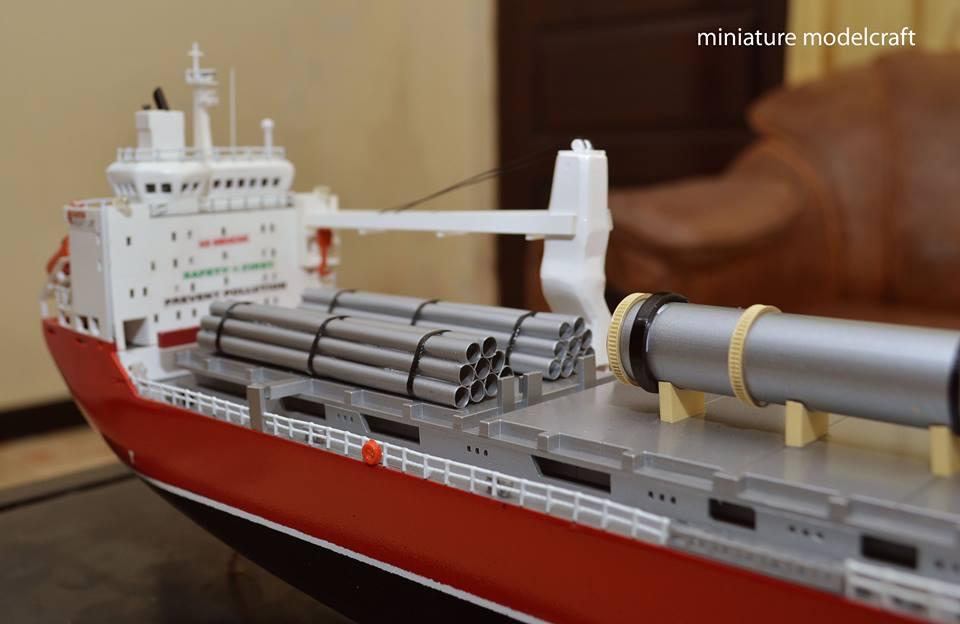 jual miniatur kapal cargo mv hhl congo