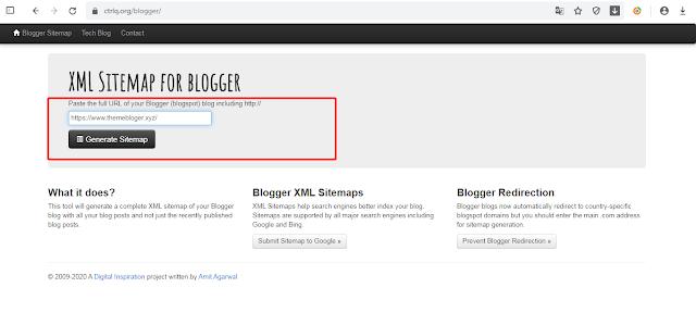 Hướng dẫn tạo sitemap cho Blogspot