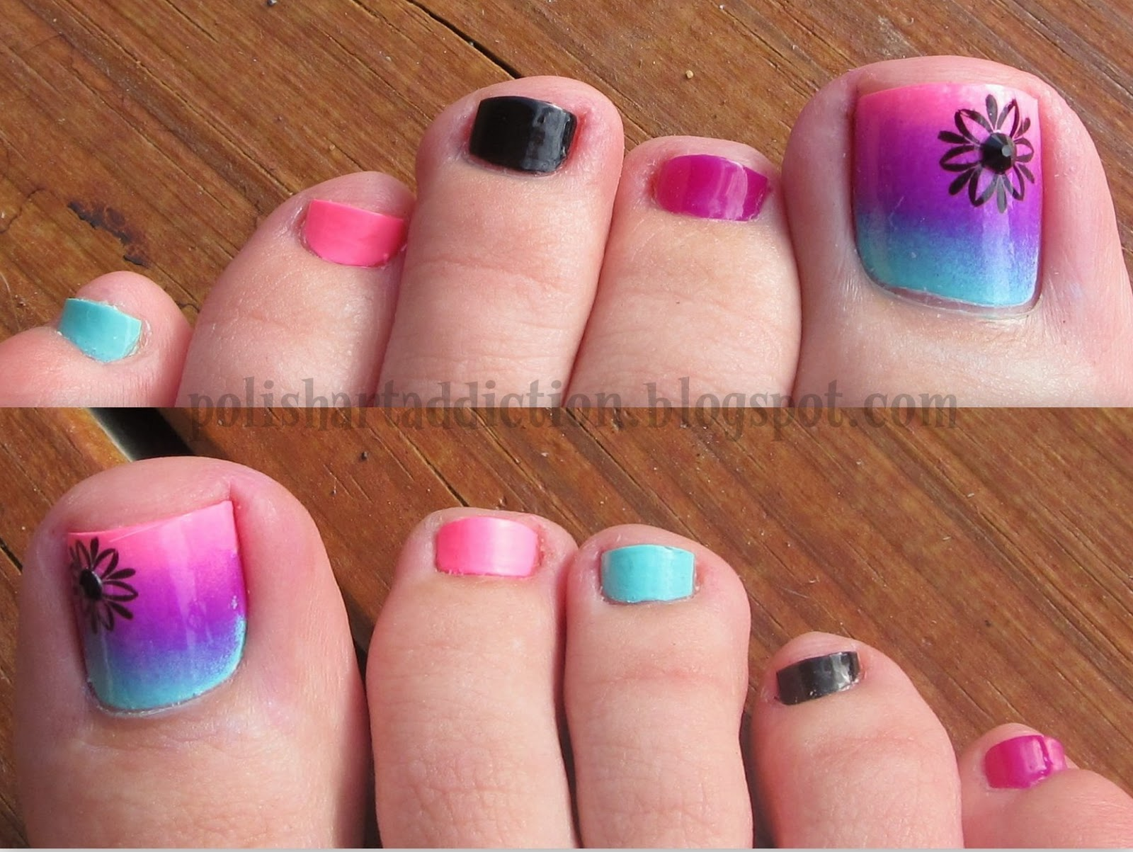 Gradient Pedicure