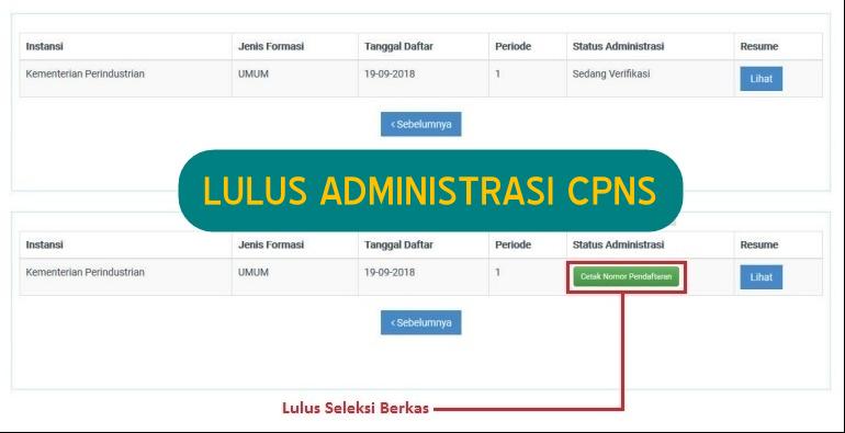 Lulus Administrasi CPNS
