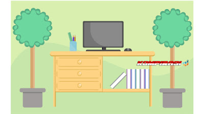 flat design desktop work