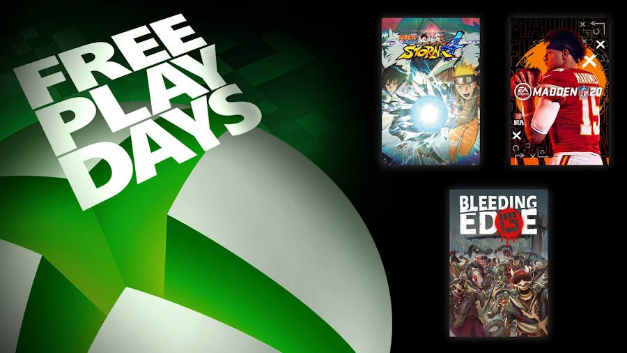 bleeding edge madden nfl 20 naruto ninja storm 4 xbox live gold free play days event
