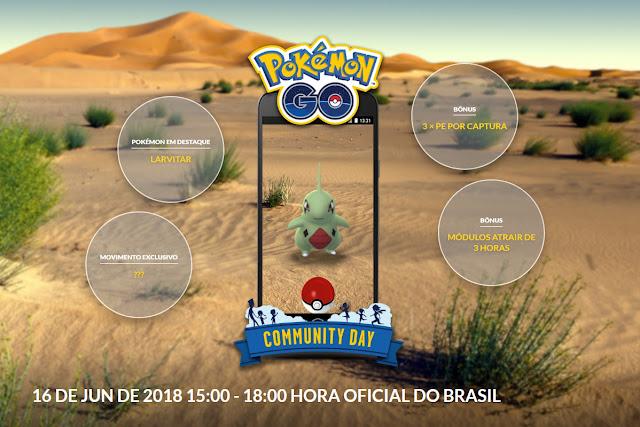 Community Day, Dia comunitário pokémon go Larvitar