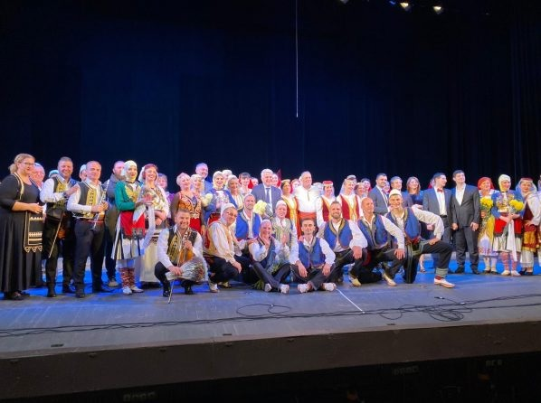 Celebrations of the Albanian community in Ukraine with traditional songs and dances