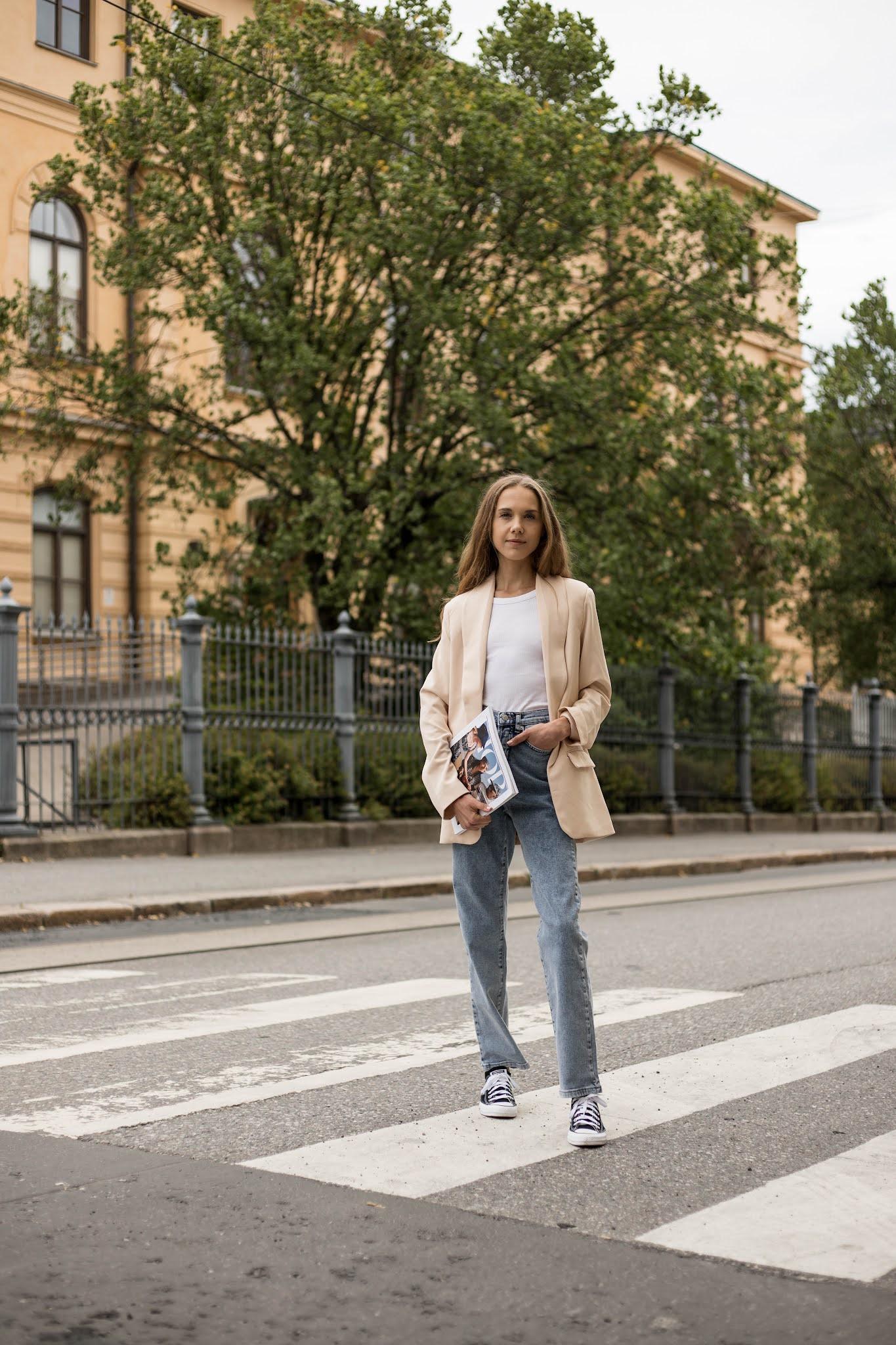 Inspiraatiota syyspukeutumiseen: farkut ja bleiseri // Autumn style inspiration: jeans and blazer