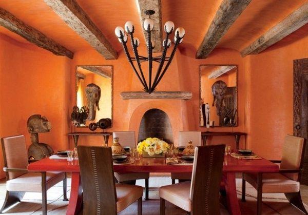 Decoración de comedores rústicos   colores en casa