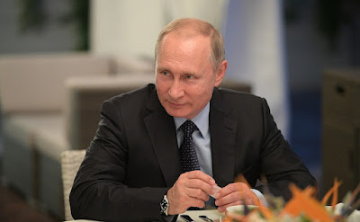 Vladimir Putin during the meeting with Anastasia Votintseva.