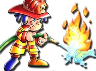 Imagen de un bombero para niños a colores