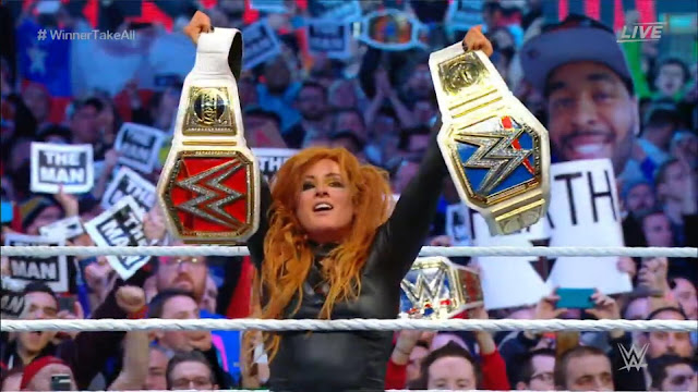 Becky Lynch Wins Smackdown And Raw Women's Titles Wrestlemania 35