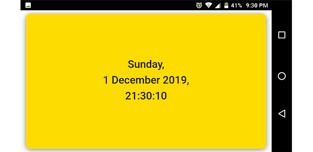 Current Date and Time