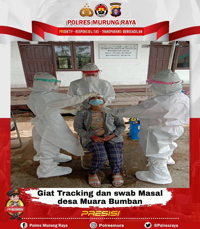 Polsek Murung Gelar Sweb Masal Dan Tracking Di Desa Muara Bumban