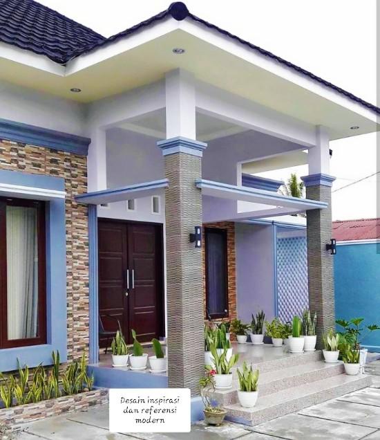 rumah minimalis dengan teras hijau