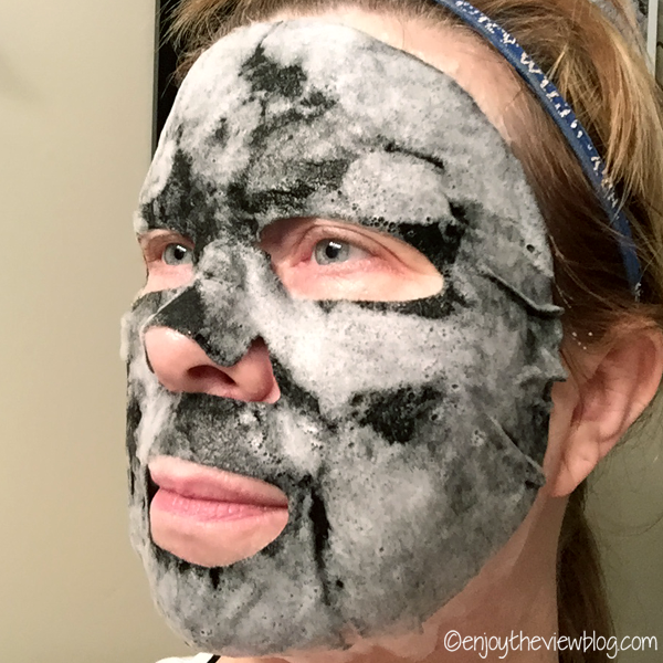 The Glamglow Bubblesheet™mask after three minutes!