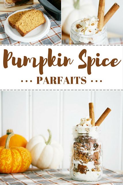 Pumpkin Spice Parfait Recipe. So easy and so yummy! Can make in just a few simple steps! Great dessert for fall and holiday parties.
