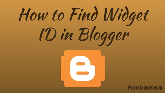 find widget id blogger
