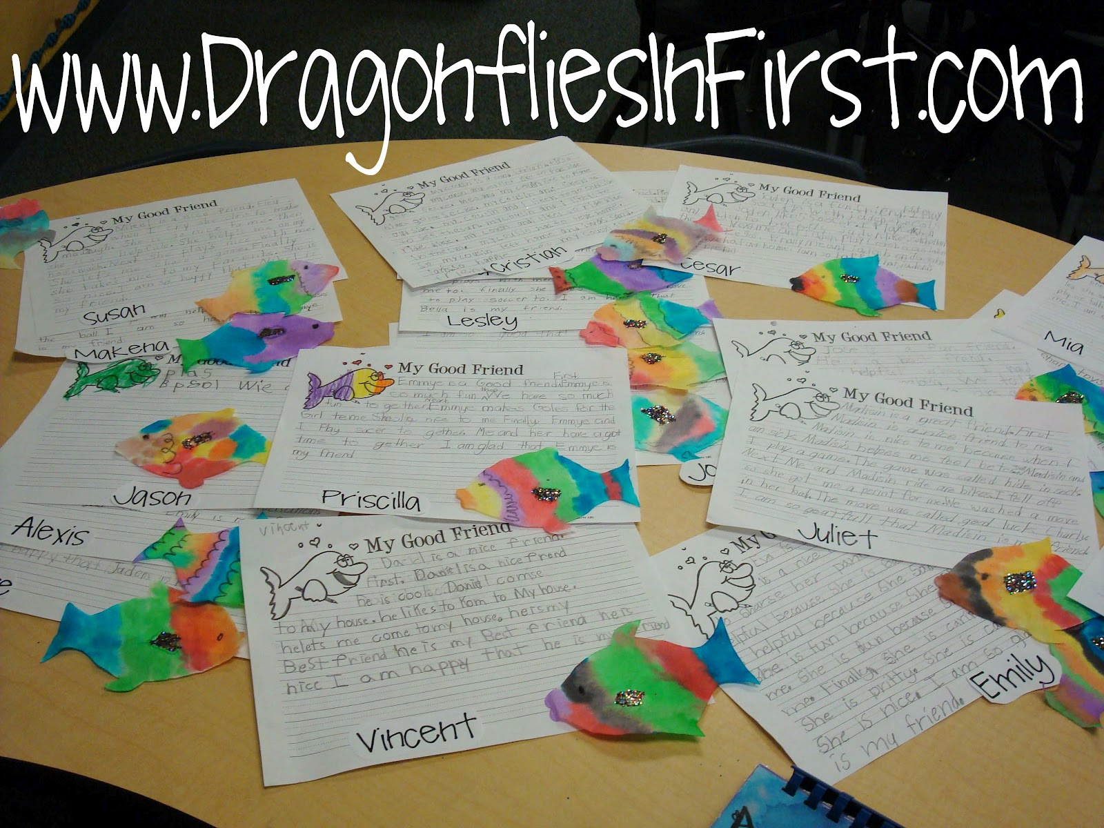 Rainbow Fish Story Board