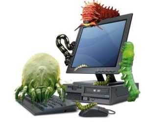 computer infected with virus
