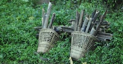 दाउराको भारी  Two basketful of firewood