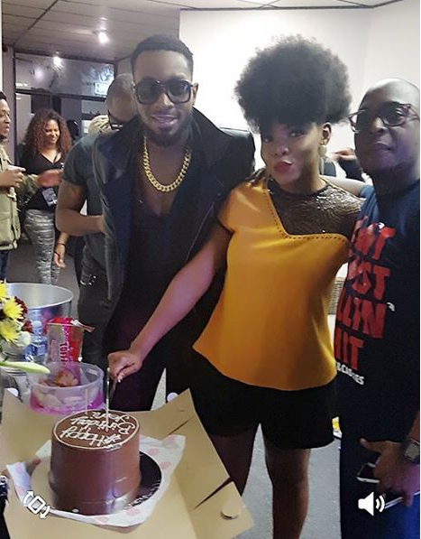 Yemi alade with Dbanj on hwer birthday