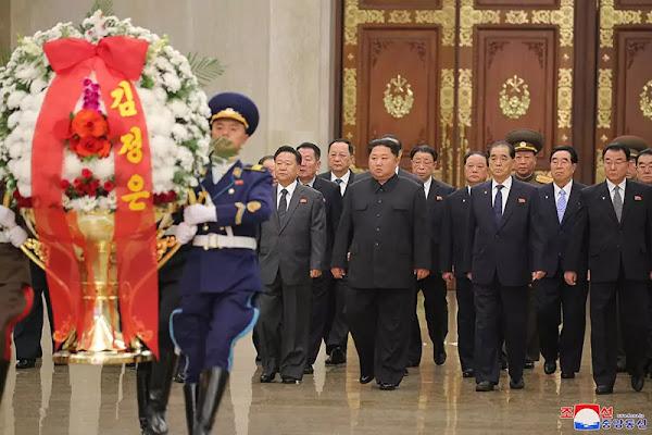 Kim Jong Un visits Kumsusan Palace of Sun, December 2019