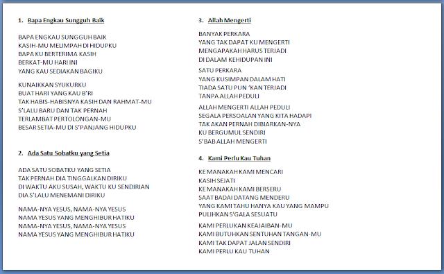 Contoh Susunan Acara Ibadah Penghiburan Lengkap Daftar Lagunya Lagu Rohani