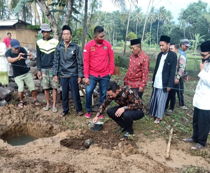 Peletakan Batu Pertama Pondok Pesantren AT-TAQWA Desa Indapatra Dihadiri Wabup Kuningan