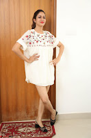 Lavanya Tripathi in Summer Style Spicy Short White Dress at her Interview  Exclusive 256.JPG