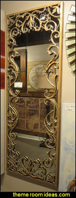 Baroque Oversize Gold Scroll Wall Mirror