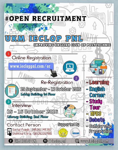 OPEN RECRUITMENT UKM IECLOP PNL 2016