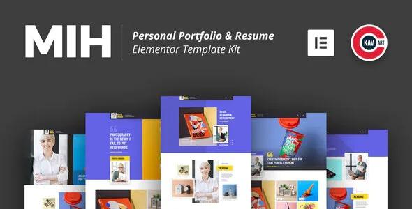 Best Personal Portfolio & Resume Template Kit