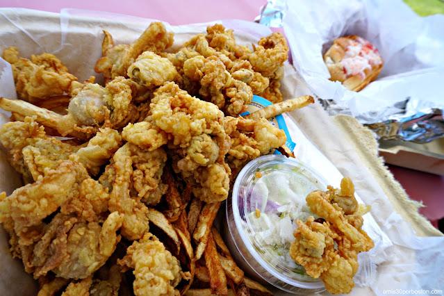 Almejas Fritas en Erica's Seafood, Harpswell