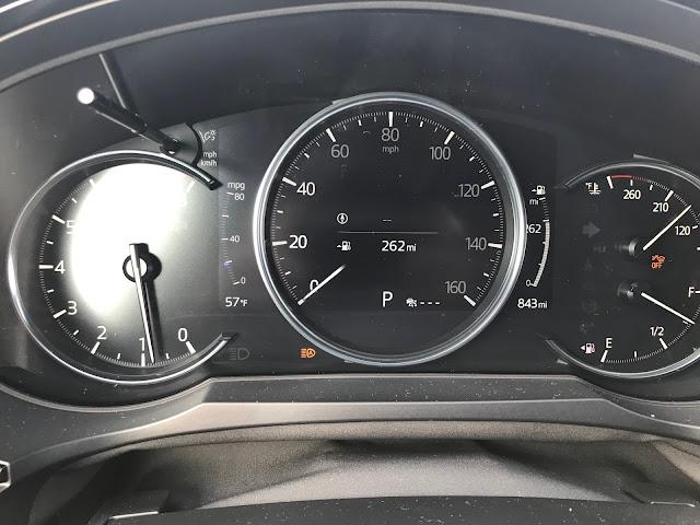 Gauge cluster in 2020 Mazda CX-9 Signature AWD