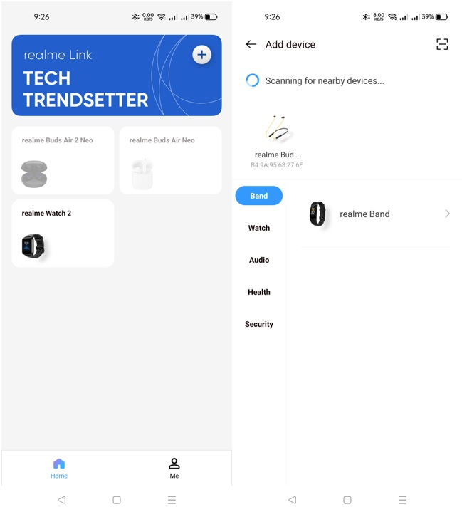 realme Buds Wireless 2 Neo Pairing with realme Link app