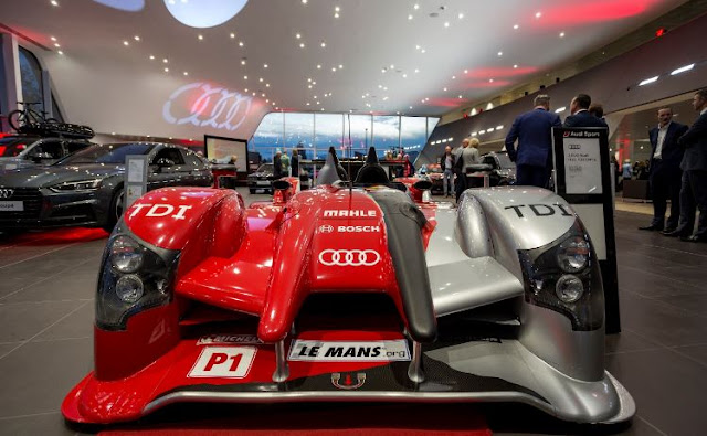 uk audi new dealership opening showroom