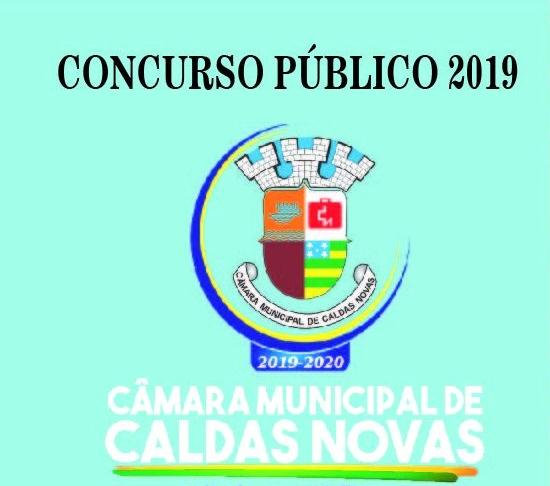 edital Câmara de Caldas Novas - Concurso 2019