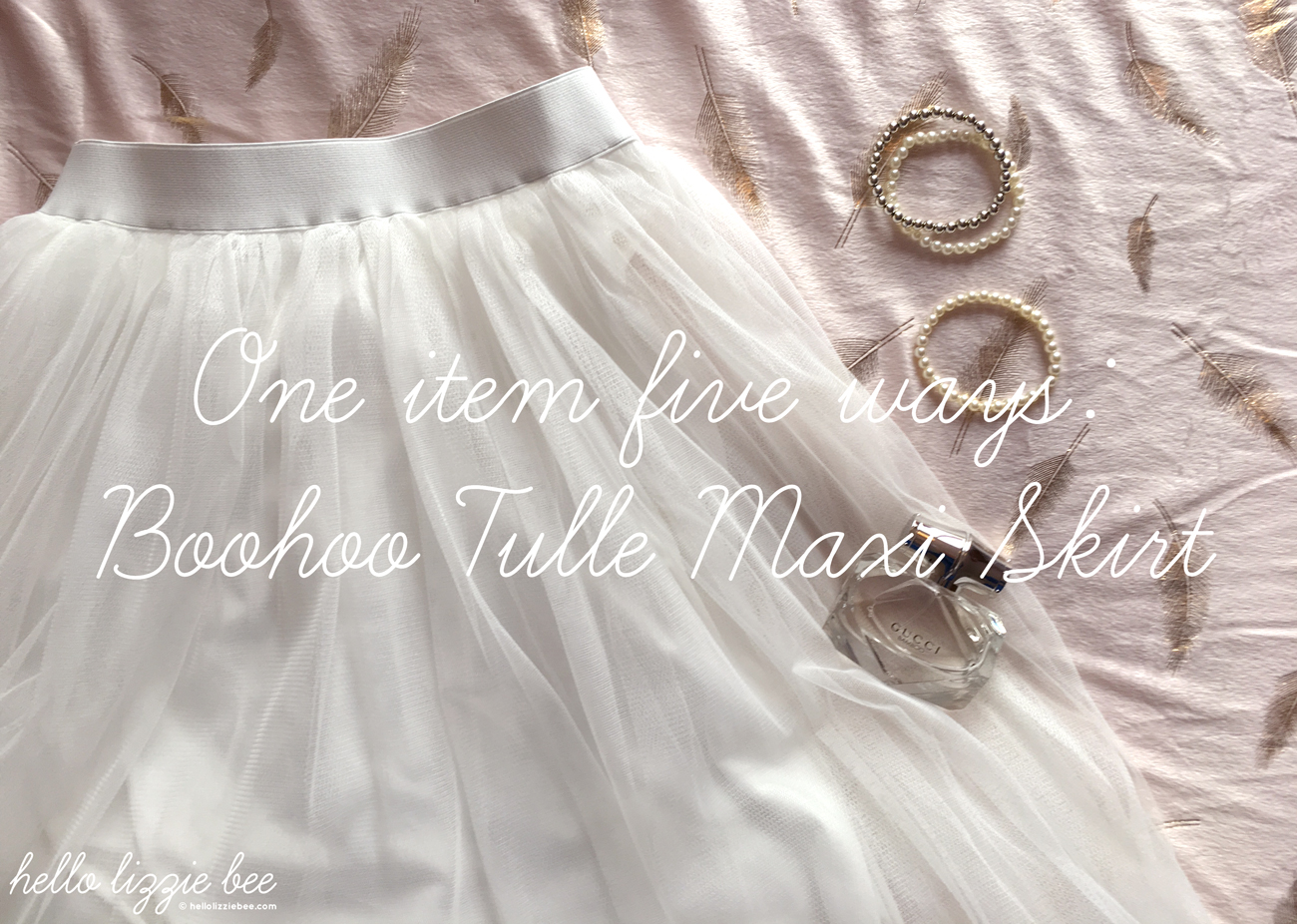 one item five ways, tulle, boohoo