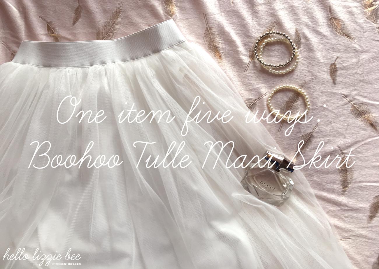 one item five ways, tulle, boohoo