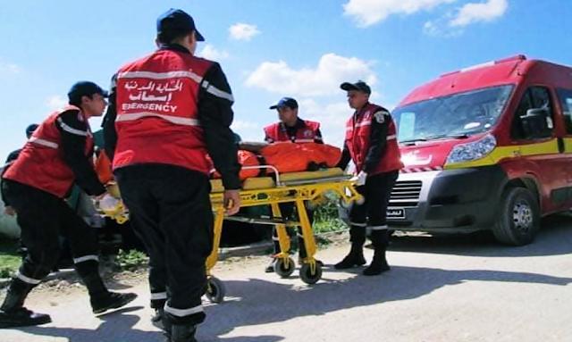 وفاة 19 شخصا في إنقلاب الحافلة السياحية في عين دراهم