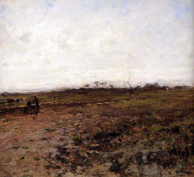 Жан Франсуа Милле - Пейзаж с двумя крестьянками