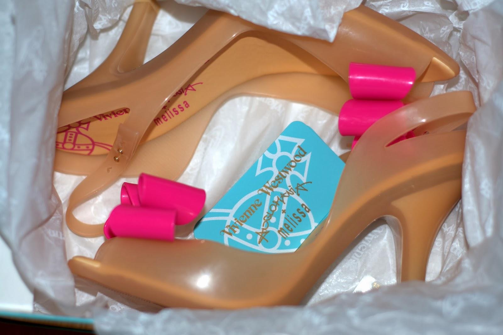 buty melissa z różową kokardą Lady Dragon