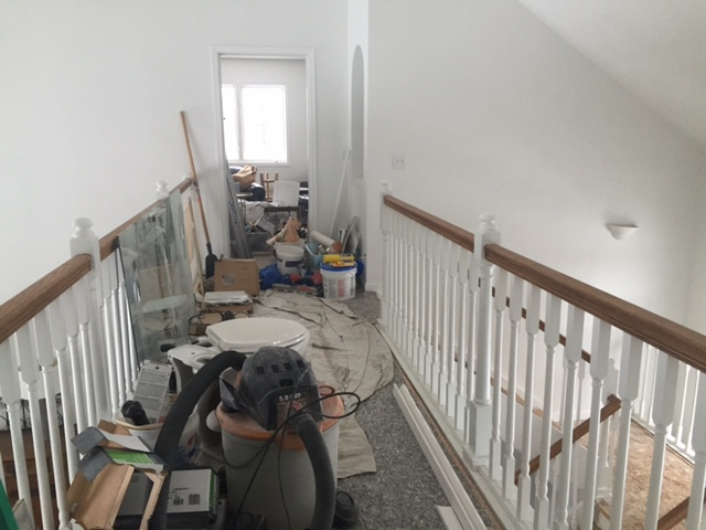 Before of catwalk at Hello Lovely Studio's fixer upper - come explore Before & After: My Home Renovation.