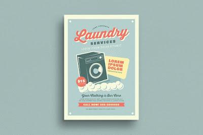 contoh gambar brosur laundry